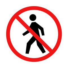 Vector No Pedestrian Traffic Sign