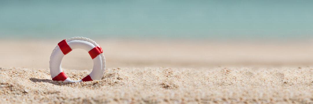 Close-up Of Miniature Lifebuoy