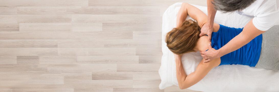 Woman Receiving Body Massage
