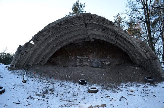Unformal shooting range near Kiev. Former Soviet military base.