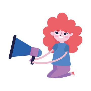 teen with megaphone marketing social media