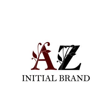 Initial AZ logo letter luxury vector modern