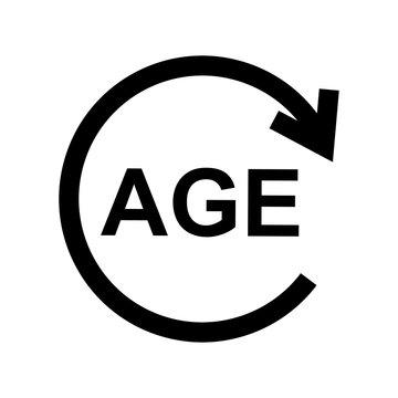 age limit icon design vector logo template EPS 10