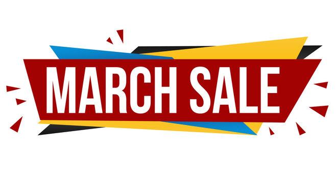 March sale banner design