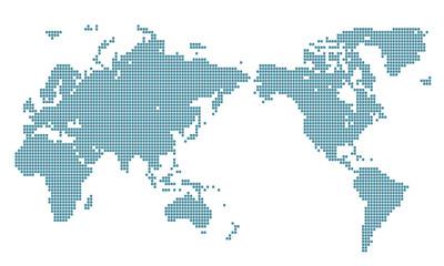 世界地図 イラスト ドット