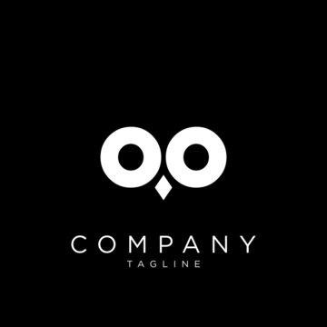 owl face logo design vector simple icon