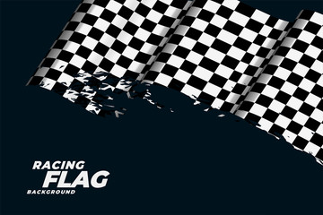 checkered racing flag background design