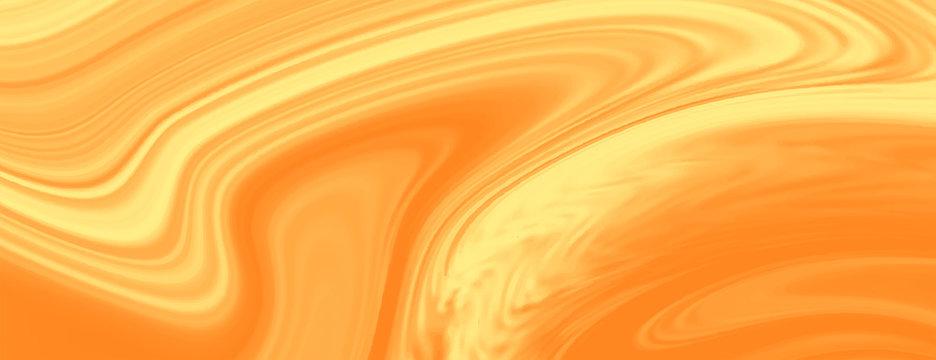 bright yellow liquid marble texture banner design