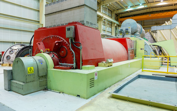 Turbine and Generator in a Natural Gas power plant.