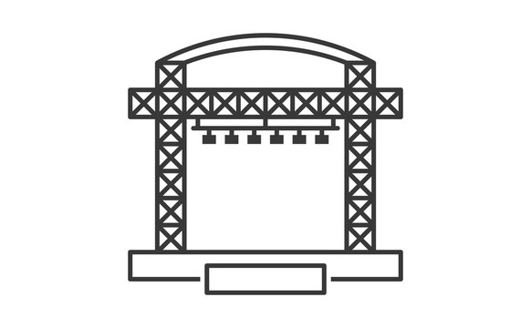 Outdoor concert stage podium icon