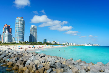 South Pointe beach, Miami, Florida, USA