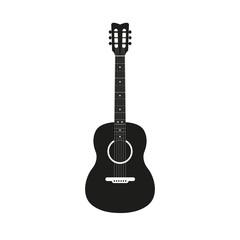 Acoustic guitar icon illustration concept image icon