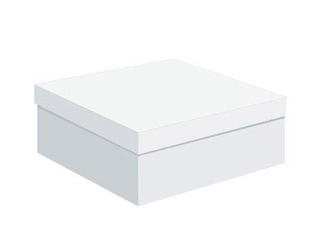 box isolated on white background, cake box closed, vector eps10