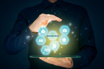 On-line app insurance concept