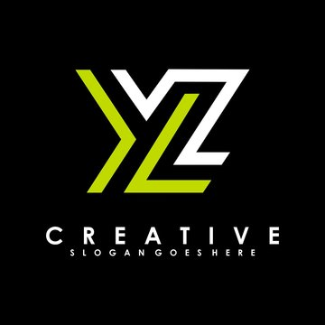 YL Letter Logo Design Template Vector. abstract LY initial concept