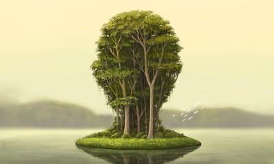 Obraz Nature and environment concept surreal artwork - fototapety do salonu