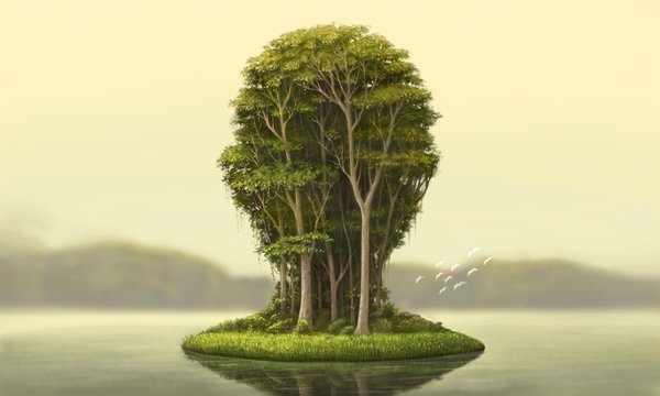 Nature and environment concept surreal artwork