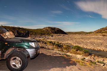 falling stars in desert camp