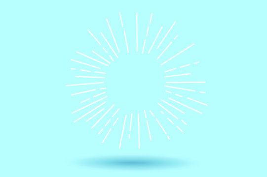 burst of light within the blue backdrop