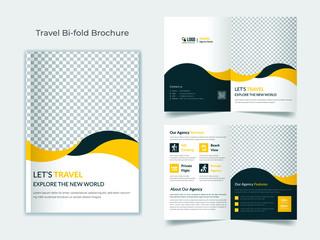 Travel bifold brochure template
