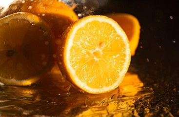 Printed roller blinds Splashing water Fresh lemon and water drops