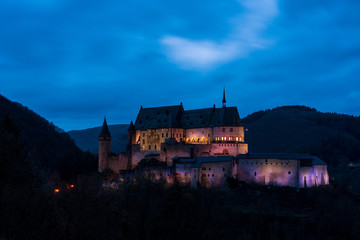 Old historic castle Vianden in Luxembourg.