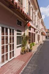 Sino Portuguese architecture on Soi Romanee, Old Phuket Town, Thailand