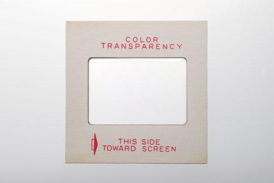 """color transparency slide frame marked """"Color Transparency"""""""
