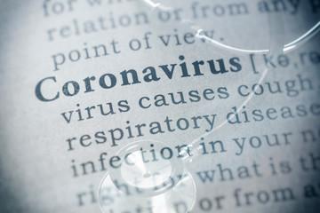 Wall Mural - definition of coronavirus