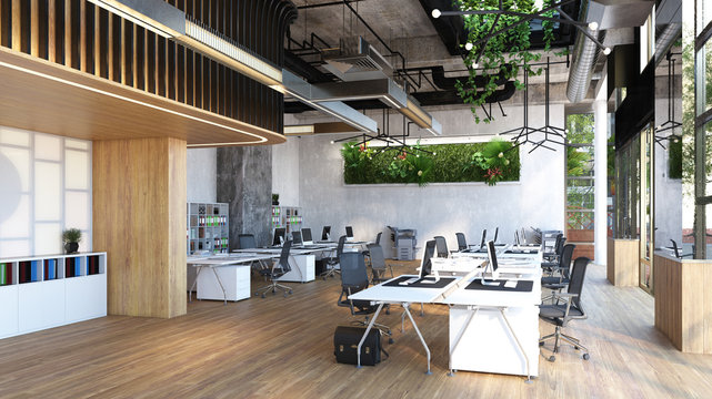 modern office interior,