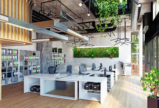 modern office interior,