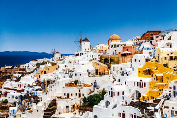 View of the city of Oia. Santorini Island in Greece