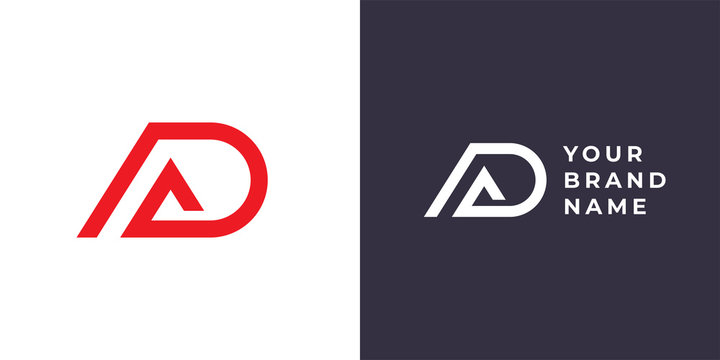 Letter A and D monogram logo design