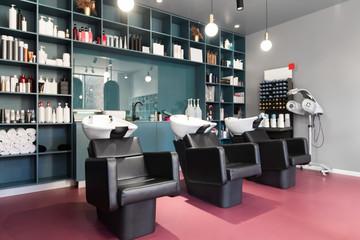 Modern beauty room and hair salon for women