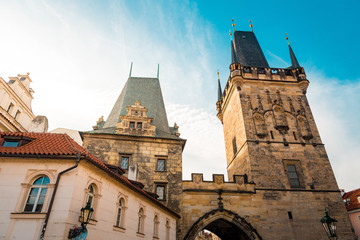 Lesser Town Bridge Tower in Prague, Czechia