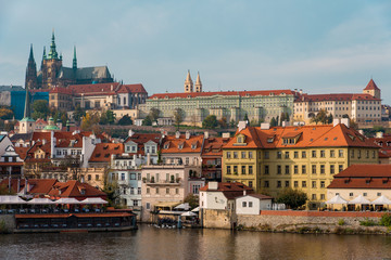 View of Prague Castle Complex From the Other Side of Vltava River