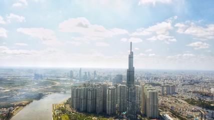 Landmark 81 is a super-tall skyscraper of Vinhomes Central Park Project in Ho Chi Minh City, Vietnam.
