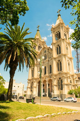 St. Ann Cathedral (Catedral de Santana), 19th century church in the center of Uruguaiana, RS - Brazil