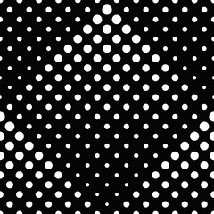 Seamless black and white geometrical dot pattern background - abstract monochrome vector illustration from circles