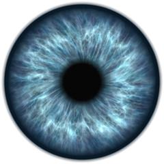 Foto op Aluminium Iris human blue eye iris closeup