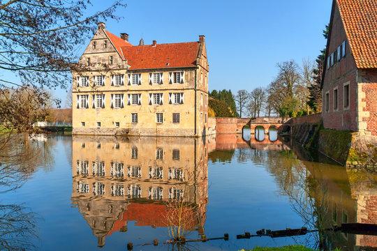 Wasserschloss Hülshof im Münsterland, Deutschland