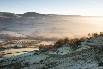 Winter Morning on Cracken Edge in The Peak District