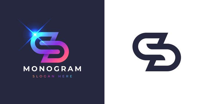 S and D monogram logo design