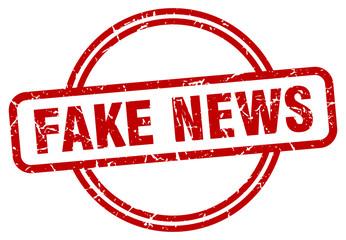 fake news stamp. fake news round vintage grunge sign. fake news