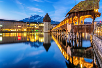Historical Old town of Lucerne, Switzerland