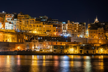 Valletta City By Night In Malta