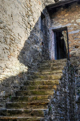 old stairs in a castle