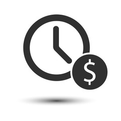 Time is money icon isolated on white background. Vector illustration.