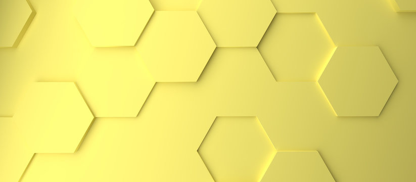 Abstract modern bright pastel yellow honeycomb background