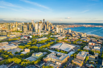 Aerial photo of the Seattle from Queen Anne